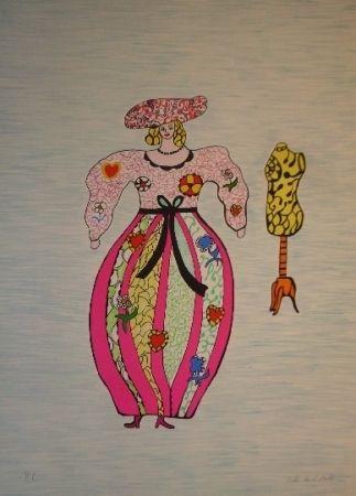 Lithograph De Saint Phalle - Mannequin