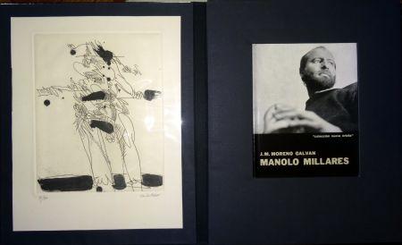 Illustrated Book Millares - Manolo Millares - Colección Nueva orbita - Incluye un aguafuerte - Firmado y numerado