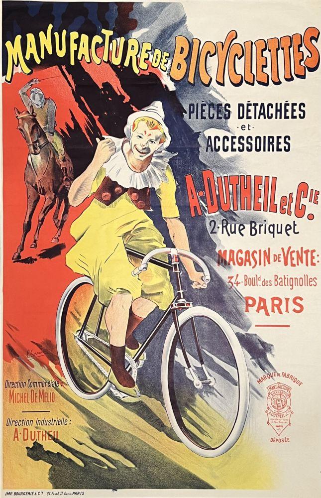 Lithograph Corrois - Manufacture de Bicyclettes