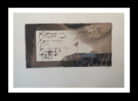 Etching And Aquatint Tàpies - Manuscrito