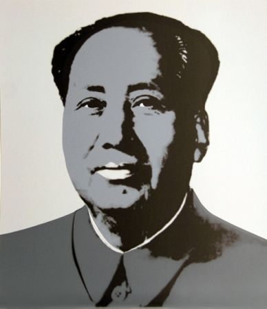 Screenprint Warhol (After) - Mao - Grey