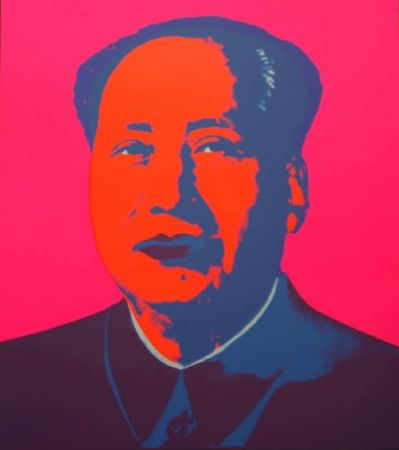 Screenprint Warhol (After) - Mao - Hot pink