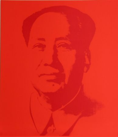Screenprint Warhol (After) - Mao - Red
