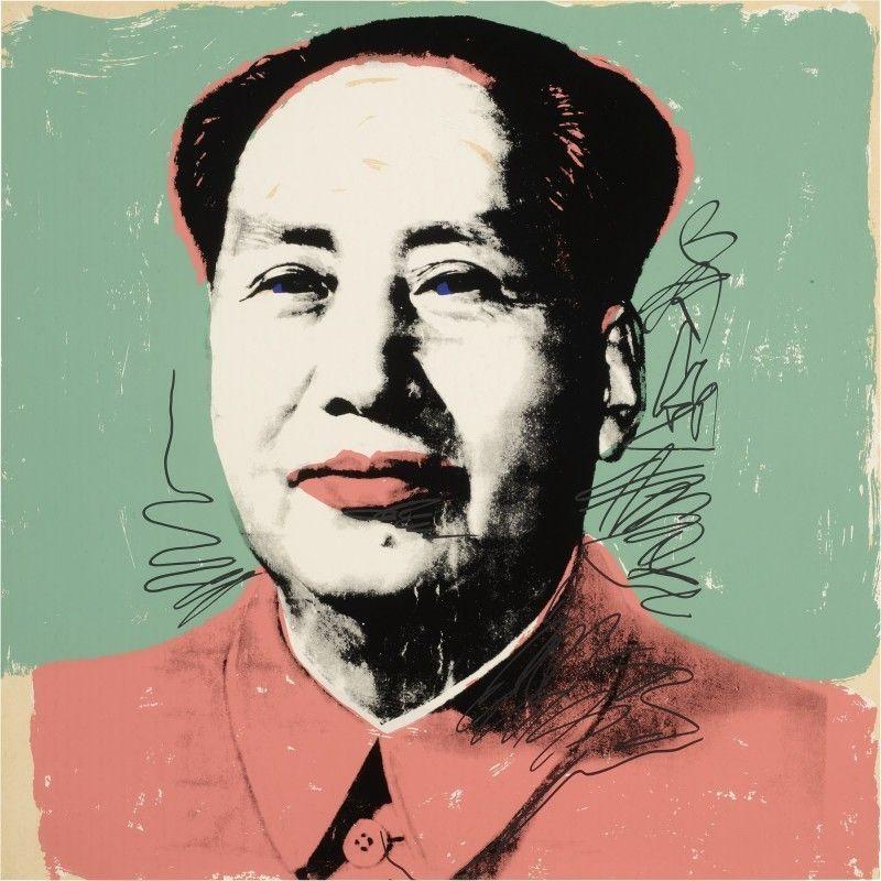 Screenprint Warhol - Mao #95