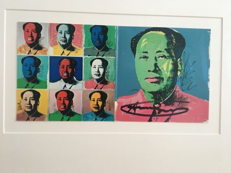 Lithograph Warhol - Mao Announcement