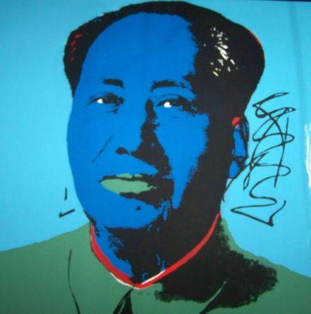 Screenprint Warhol (After) - Mao bleu vert