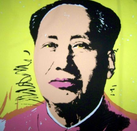 Screenprint Warhol (After) - Mao jaune rose