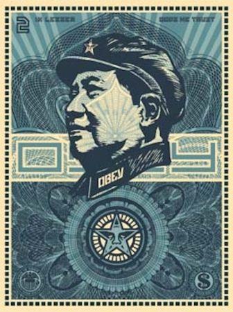 Screenprint Fairey - Mao Money
