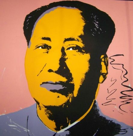 Screenprint Warhol (After) - Mao orange mauve