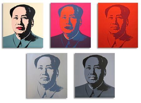 Screenprint Warhol (After) - Mao Silkscreen Prints (by Sunday B. Morning)