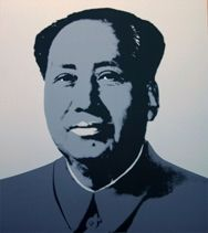 Screenprint Warhol (After) - Mao silver