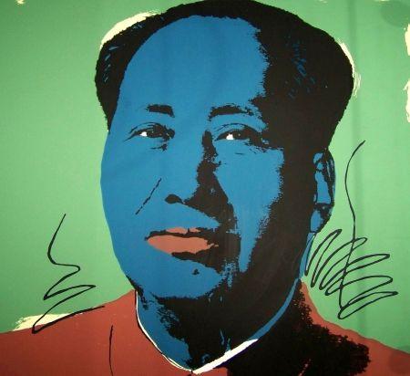 Screenprint Warhol (After) - Mao vert bleu