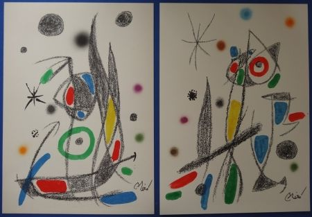 Lithograph Miró - Maravillas (20 lithographies)