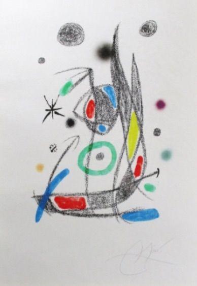 Lithograph Miró - Maravillas con Variaciones Acrósticas en El Jardín de Miró - Plate 14