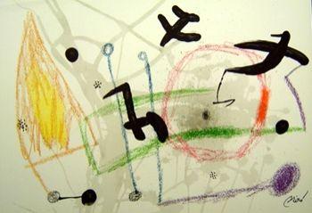 Lithograph Miró - Maravillas Con Variaciones Acrósticas En El Jardín De Miró n.5