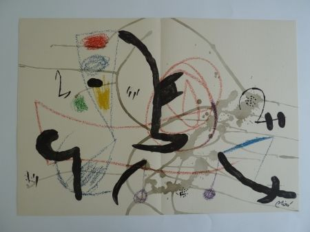 Lithograph Miró - Maravillas XI