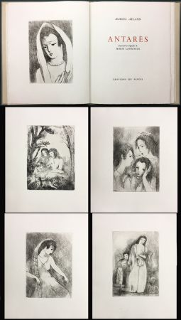 Illustrated Book Laurencin - Marcel Arland : ANTARES. Exemplaire avec suite (1944).