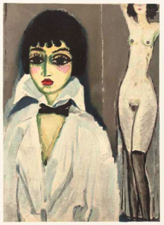 Lithograph Van Dongen - Marcele Leoni With Nude