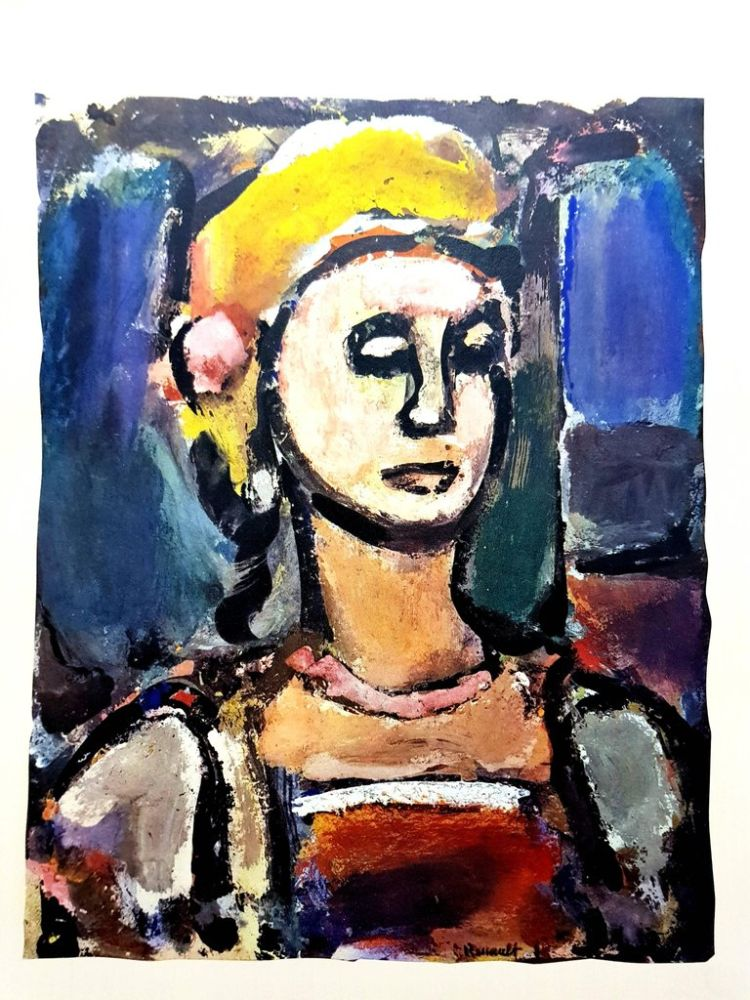 Lithograph Rouault (After) - Margot