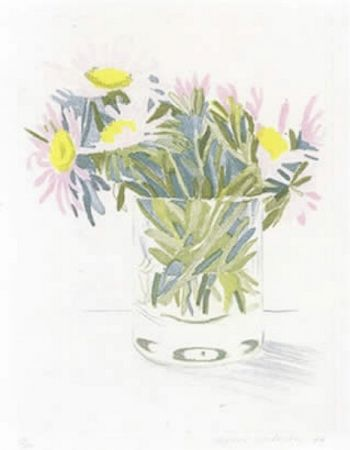 Etching And Aquatint Hockney - Marguerites