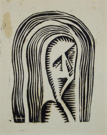 Woodcut Hofman - Maria
