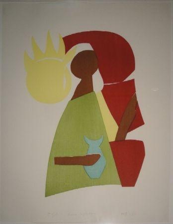 Woodcut Gehr - Maria Magdalena