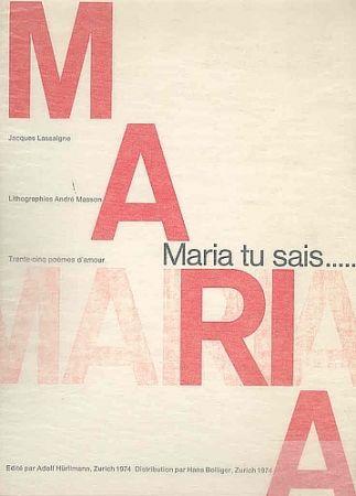 Illustrated Book Masson - Maria, tu sais