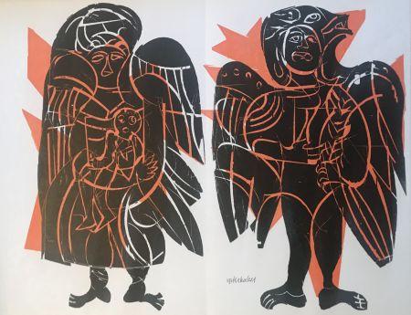 Woodcut Grieshaber - Maria vom helle christlichen Haufen