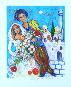 Lithograph Sorkine - Mariage en orient
