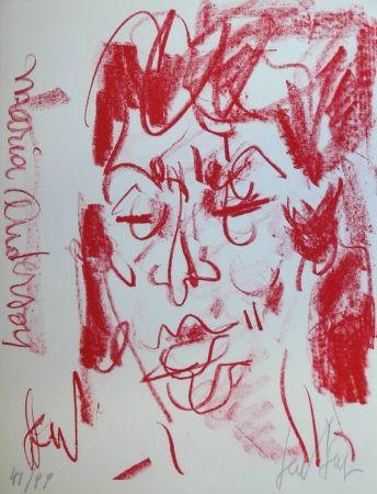 Lithograph Paul  - MARIANE ANDERSON - Portrait - Lithographie Originale / Original Lithograph