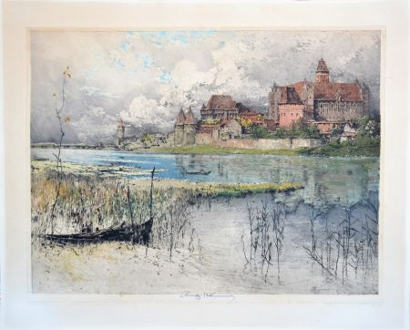 Aquatint Kasimir - Marienburg Castle