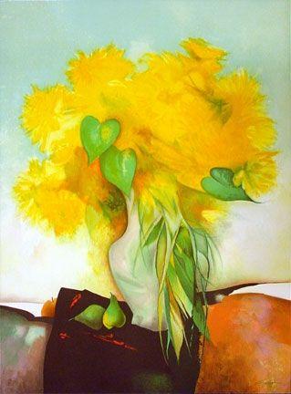 Lithograph Gaveau - Marigolds