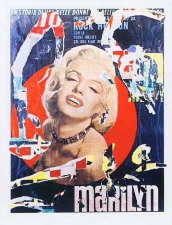 Screenprint Rotella - Marilyn