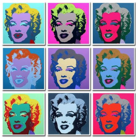 No Technical Warhol (After) - Marilyn Collection a Set of 10 in different colours