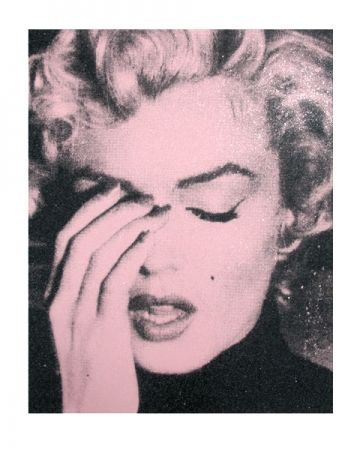 Screenprint Young - Marilyn Crying, Powder Pink