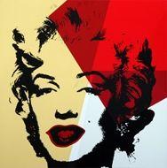 Screenprint Warhol - Marilyn golden yellow orange red