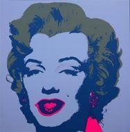 Screenprint Warhol - Marilyn lilas