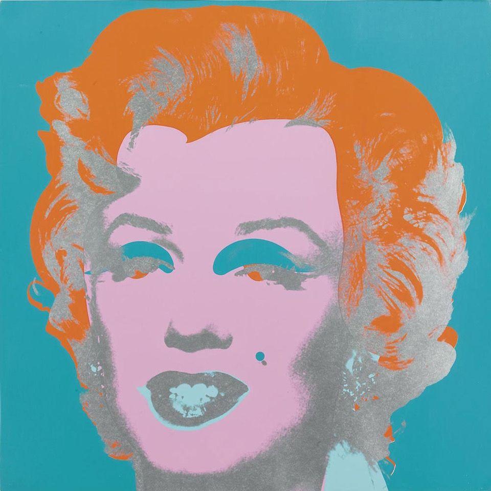 Screenprint Warhol - Marilyn Monroe (FS II.29) (Blue/Orange)