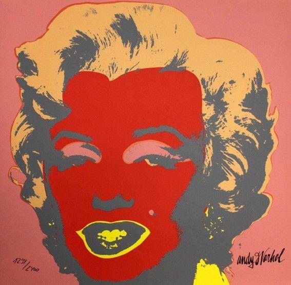 Screenprint Warhol - Marilyn Monroe Red
