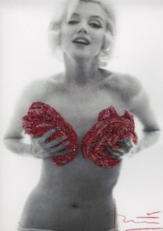 Photography Stern - Marilyn red classic full roses Glitters