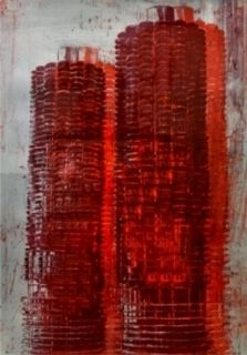 Lithograph Perez - Marina Towers, Chicago
