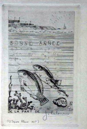 Engraving Laboureur - Marine aux quatre poissons