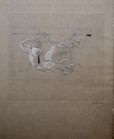 Etching And Aquatint Bellmer - Marionnette 4