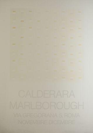 Screenprint Calderara - Marlborough (SIGNED silkscreen exhibition poster on fine paper)