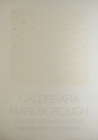 Screenprint Calderara - Marlborough (SIGNED silkscreen exhibition poster on fine paper)