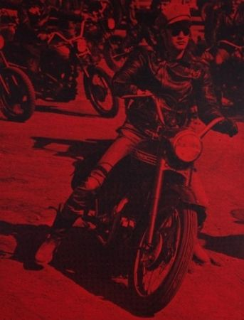 Screenprint Young - Marlon Brando (Bike)