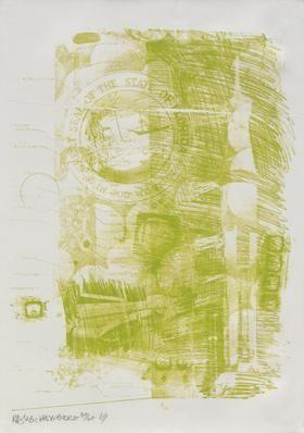 Lithograph Rauschenberg - Marsh