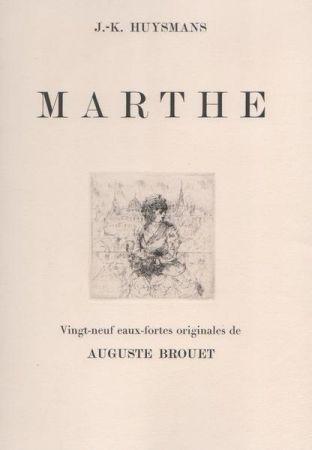 Engraving Brouet - Marthe