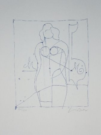 Lithograph Lindner - Marylin was here 11