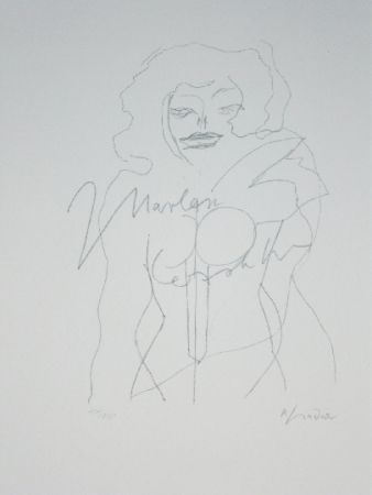 Lithograph Lindner - Marylin was here 12